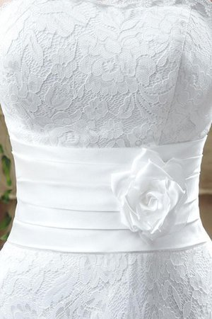 Tea Length Demure Flowers Chic & Modern Rectangle Wedding Dress - 2