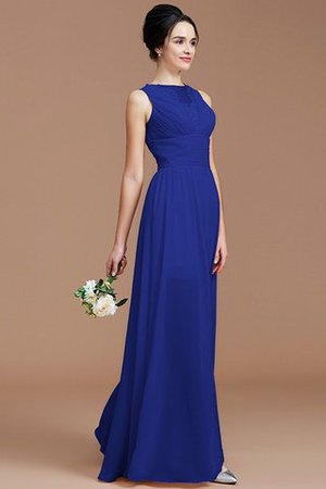 Ruched Zipper Up Natural Waist Jewel Sleeveless Bridesmaid Dress - 31