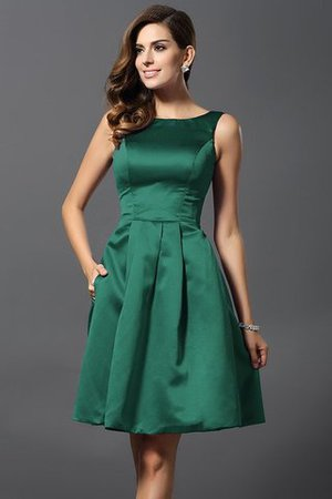 A-Line Knee Length Natural Waist Bridesmaid Dress - 9