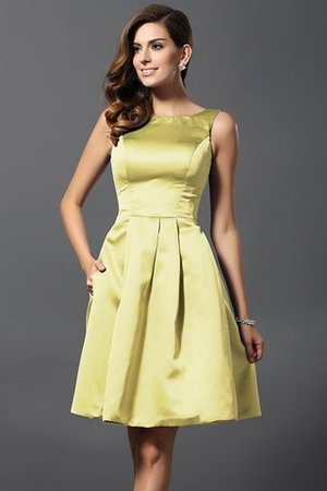 A-Line Knee Length Natural Waist Bridesmaid Dress - 8