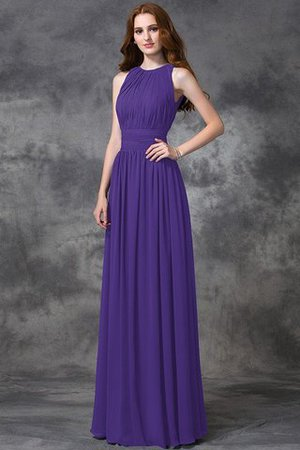 Sleeveless Ruched Natural Waist Chiffon Long Bridesmaid Dress - 24