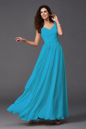 Sashes Floor Length Spaghetti Straps A-Line Bridesmaid Dress - 19