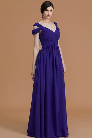 Natural Waist A-Line Ruched Floor Length Bridesmaid Dress - 8