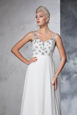 Sleeveless Empire Waist Sweep Train A-Line Long Wedding Dress - 6