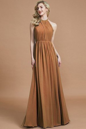 Sleeveless Floor Length A-Line Scoop Bridesmaid Dress - 9