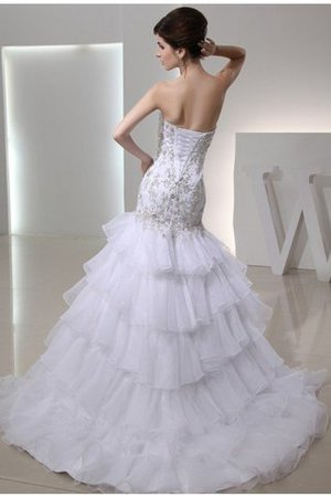 Lace-up Sweetheart Empire Waist Mermaid Sleeveless Wedding Dress - 2