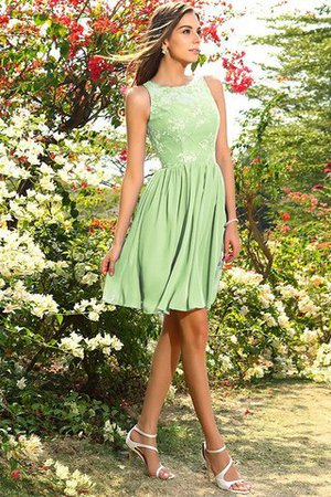 A-Line Natural Waist Sleeveless Chiffon Short Bridesmaid Dress - 26