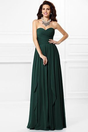 A-Line Zipper Up Long Floor Length Bridesmaid Dress - 8