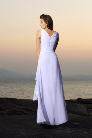 Beading Sleeveless A-Line Zipper Up Empire Waist Wedding Dress - 2