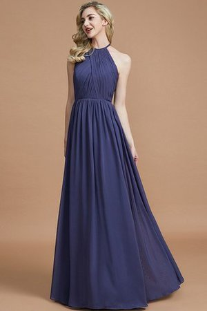 Sleeveless Floor Length A-Line Scoop Bridesmaid Dress - 4