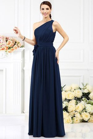 Long Sleeveless A-Line One Shoulder Bridesmaid Dress - 9