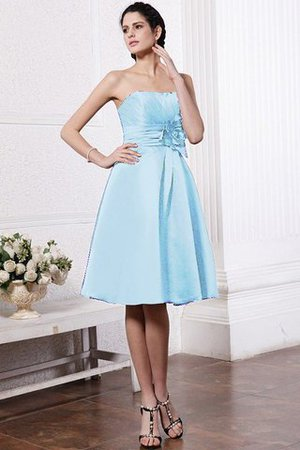 Zipper Up Princess Short Flowers Pleated Bridesmaid Dress - 17