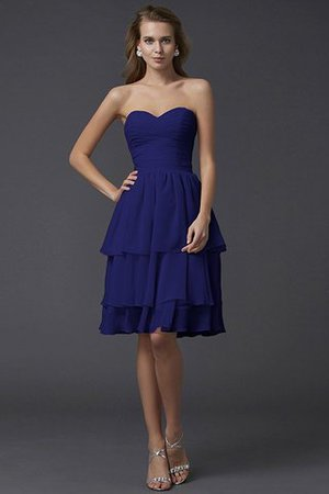 Short Chiffon Sheath Sleeveless Zipper Up Bridesmaid Dress - 25