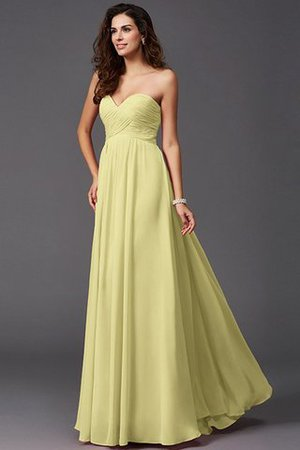 A-Line Sleeveless Chiffon Empire Waist Bridesmaid Dress - 10