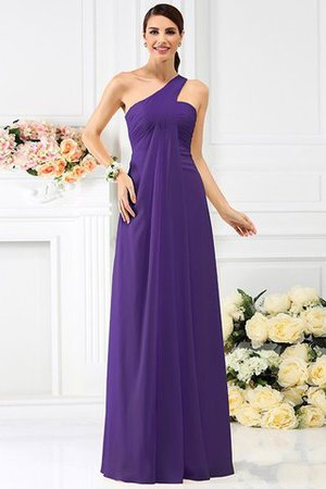 Zipper Up Long Floor Length A-Line Bridesmaid Dress - 24