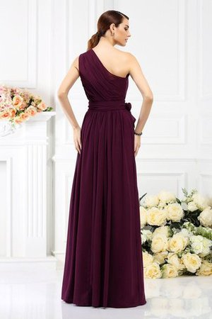 Long Sleeveless A-Line One Shoulder Bridesmaid Dress - 30