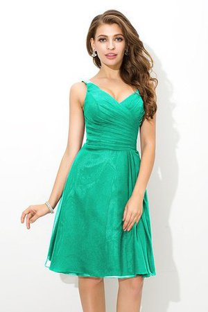 Chiffon Princess Sleeveless Natural Waist Draped Bridesmaid Dress - 15