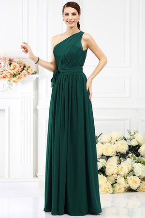Long Sleeveless A-Line One Shoulder Bridesmaid Dress - 8
