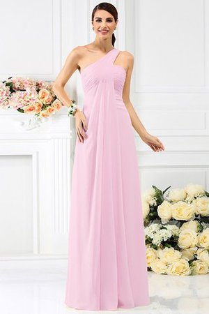 Zipper Up Long Floor Length A-Line Bridesmaid Dress - 22