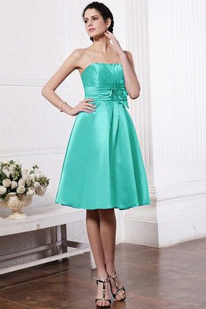 Zipper Up Princess Short Flowers Pleated Bridesmaid Dress - 15
