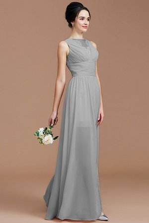 Ruched Zipper Up Natural Waist Jewel Sleeveless Bridesmaid Dress - 33