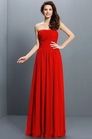 Strapless A-Line Pleated Zipper Up Bridesmaid Dress - 23