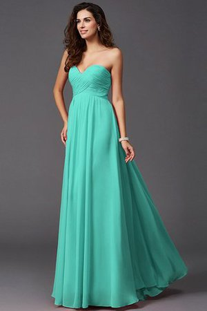A-Line Sleeveless Chiffon Empire Waist Bridesmaid Dress - 15