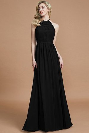 Sleeveless Floor Length A-Line Scoop Bridesmaid Dress - 7