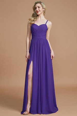 Natural Waist Sleeveless Floor Length Princess Chiffon Bridesmaid Dress - 29