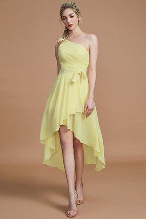 Asymmetrical Chiffon Natural Waist Bridesmaid Dress - 13