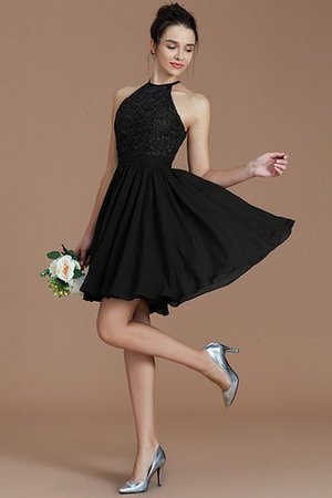 A-Line Short Halter Natural Waist Bridesmaid Dress - 8