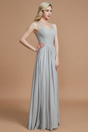 Natural Waist Floor Length A-Line V-Neck Bridesmaid Dress - 6