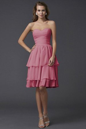 Short Chiffon Sheath Sleeveless Zipper Up Bridesmaid Dress - 28