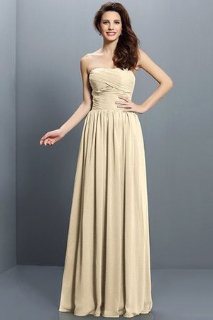 Strapless A-Line Pleated Zipper Up Bridesmaid Dress - 6