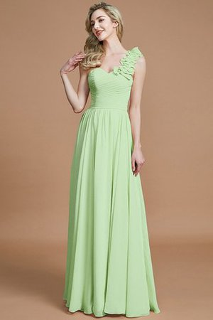 Sleeveless Natural Waist One Shoulder A-Line Chiffon Bridesmaid Dress - 30