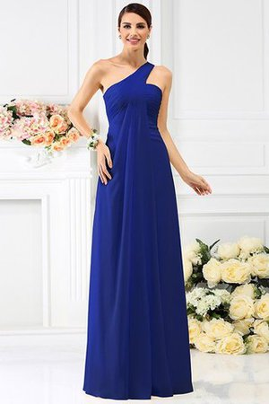 Zipper Up Long Floor Length A-Line Bridesmaid Dress - 25