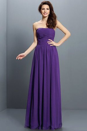 Strapless A-Line Pleated Zipper Up Bridesmaid Dress - 24