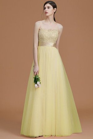 Tulle Zipper Up A-Line Appliques Bridesmaid Dress - 14