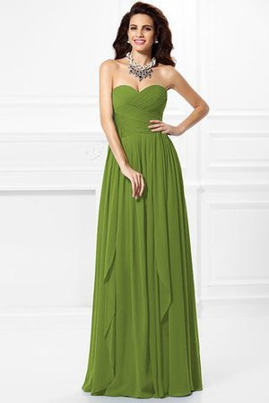 A-Line Zipper Up Long Floor Length Bridesmaid Dress - 13