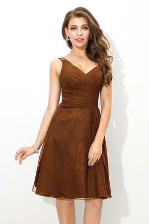 Chiffon Princess Sleeveless Natural Waist Draped Bridesmaid Dress - 4