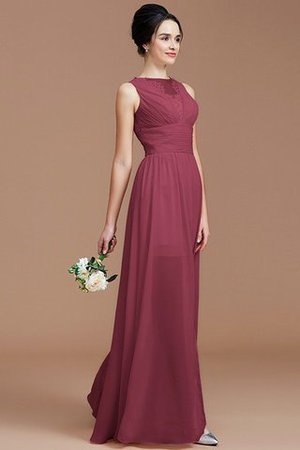 Ruched Zipper Up Natural Waist Jewel Sleeveless Bridesmaid Dress - 10