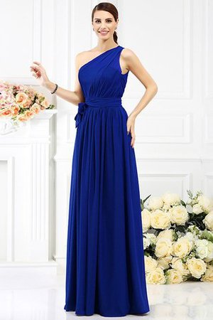 Long Sleeveless A-Line One Shoulder Bridesmaid Dress - 24