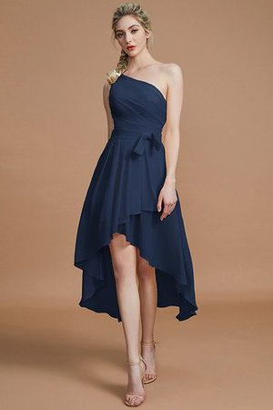 Asymmetrical Chiffon Natural Waist Bridesmaid Dress - 15