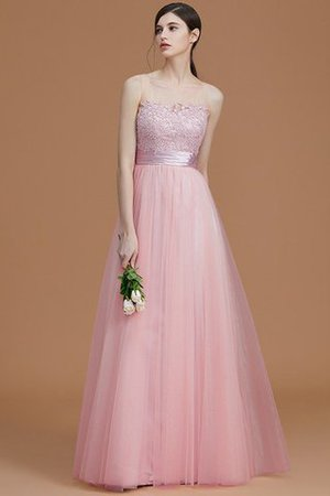 Tulle Zipper Up A-Line Appliques Bridesmaid Dress - 27