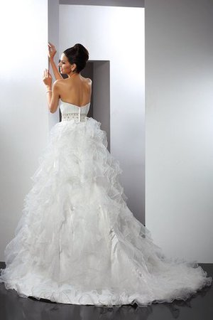 Ruffles Sweetheart Ball Gown Zipper Up Empire Waist Wedding Dress - 2