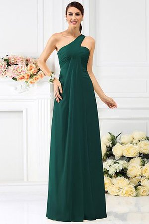 Zipper Up Long Floor Length A-Line Bridesmaid Dress - 9