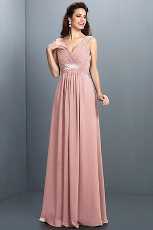 A-Line Chiffon Long Sleeveless Bridesmaid Dress - 20