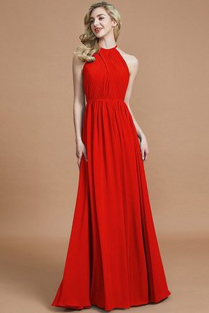 Sleeveless Floor Length A-Line Scoop Bridesmaid Dress - 28