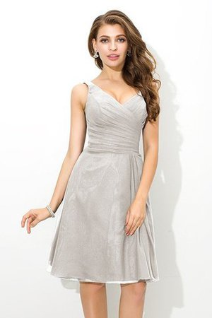 Chiffon Princess Sleeveless Natural Waist Draped Bridesmaid Dress - 19