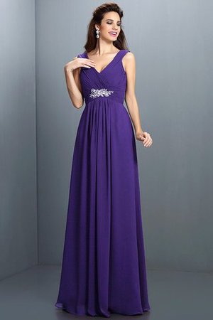 A-Line Chiffon Long Sleeveless Bridesmaid Dress - 24